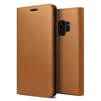 Чехол-кошелёк VRS Design Genuine Leather для Galaxy S9 Brown