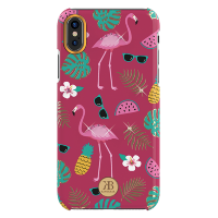 Чехол Kingxbar Blossom Series для iPhone X/Xs Flamingo